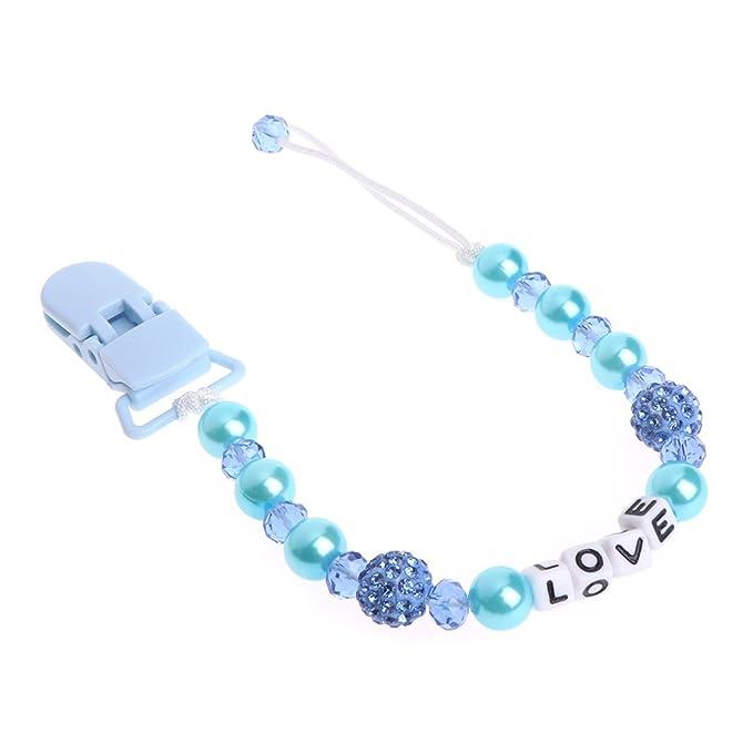 A0127 - Cadena para chupete de bebé con cristales brillantes ...