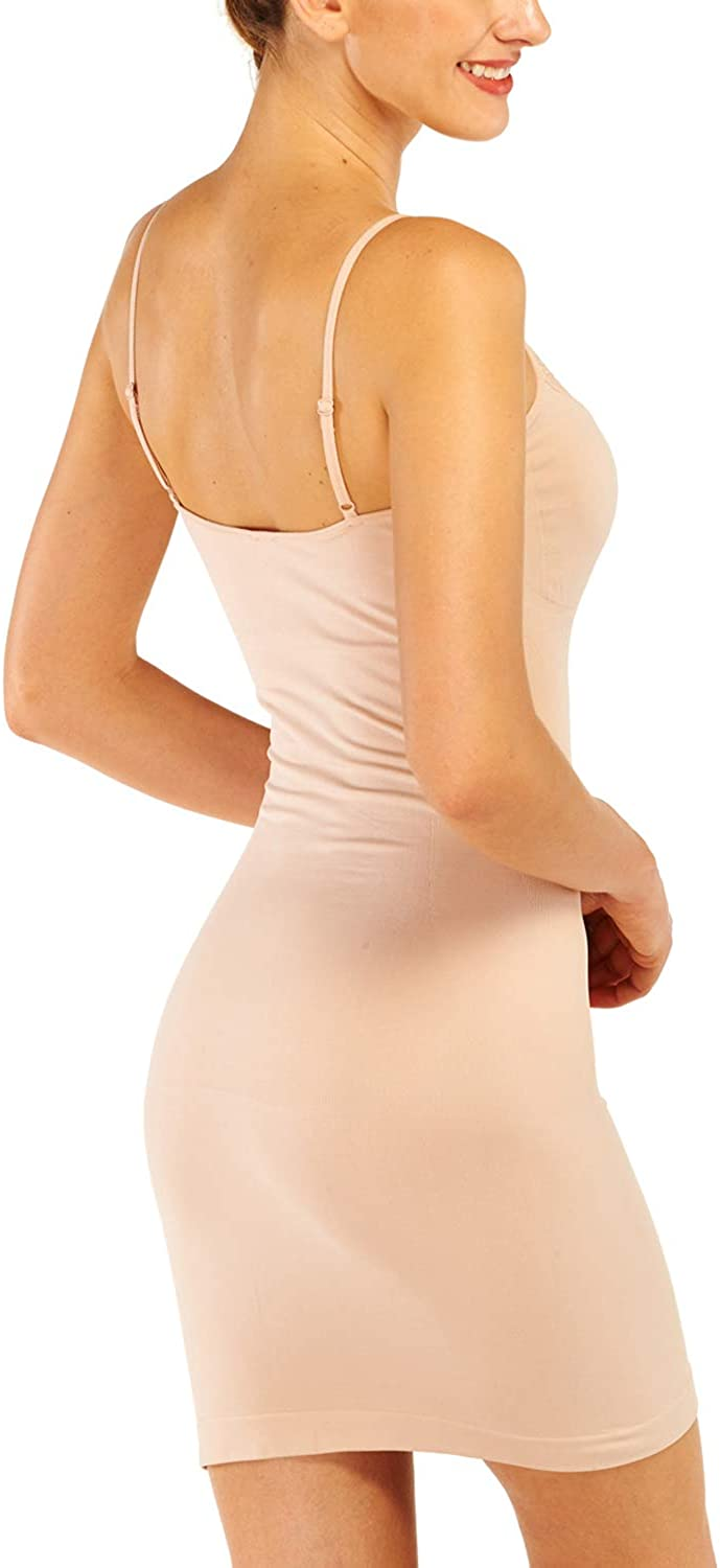 Franato Womens Control Full Slip Dress Shaperwear Slim Body Shaper Smoother
