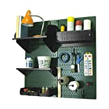 Wall Control Hobby Craft Pegboard Organizer Storage Kit, Green/Black