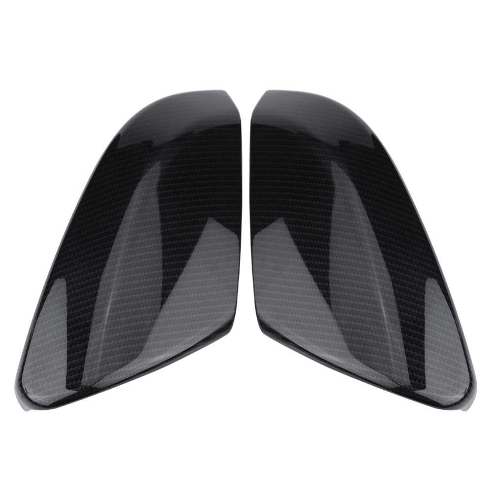 Rearview Mirror Cover Cuque 2 Pcs Rear View Mirror Housing Cap Carbon Fiber Style Side Mirror Trim ABS Plastic Exterior Mirror Protector for Honda Civic Sedan Coupe 2016 2017 2018 Hatchback 2017-2018