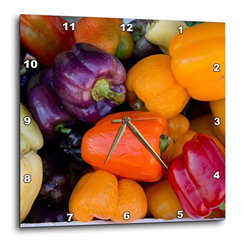 Belize, Toledo, Punta Gorda. Bell Peppers.-culinary Wall Clock