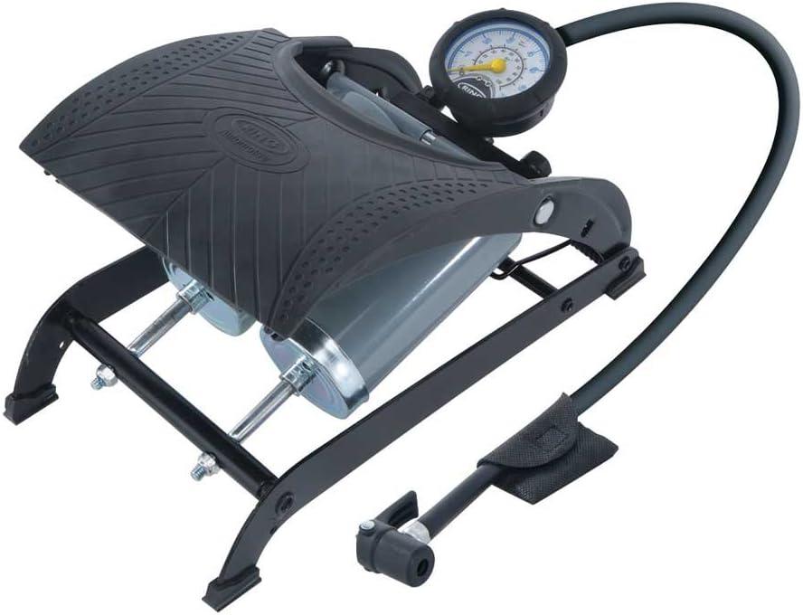R5 Mini Vélo Pompe à Pied Pompe à Air Pompe Manomètre Pompe à Air