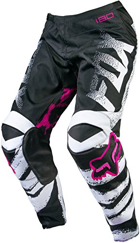 Fox Racing 180 Kids Girls Off-Road Motorcycle Pants - Black/Pink/Size 4