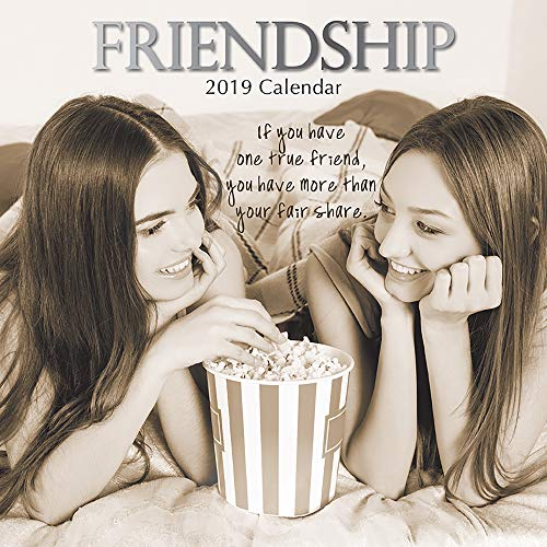 2019 Wall Calendar - Friendship Calendar, 12 x 12 Inch Monthly View, 16-Month, Inspirational Theme, Includes 180 Reminder Stickers (Friends Calendar)