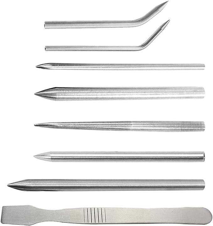 6 Teile//satz Edelstahl Paracord FID Set Schnürung Nähen Und Nadeln Glätten F7C6