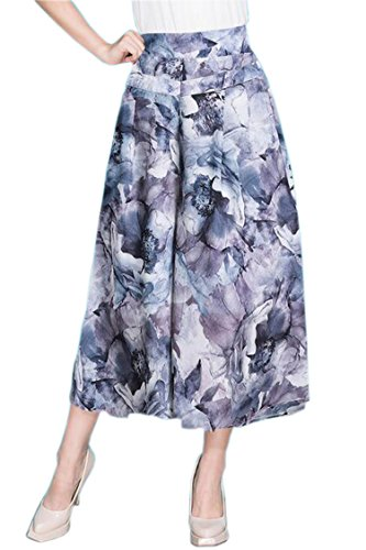 Herose Ladies 2017 Casual Beach Divided Pants A-line Skirt USS/TagXL Peony Mulberry - Pants Mulberry Line