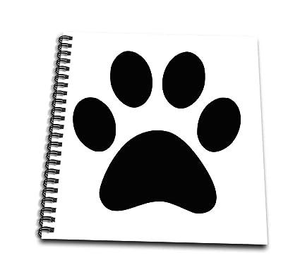 3drose Db1615141 Black Paw Print On White Animal Cute