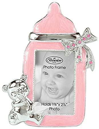 Amazoncom Brownlow Gifts Baby Girl Bottle Frame Pink Nursery