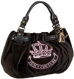 Juicy Couture YHRU2125 Fashion Velour Medium Freestyle Satchel