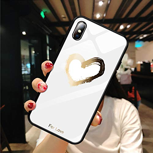 Maxlight Planet Star Pattern Tempered Glass Case for iPhone Xs MAX XR XS 7 8 Plus X Phone Case for iPhone (04, for iPhone X XS) (Iphone Case 4 Vans)