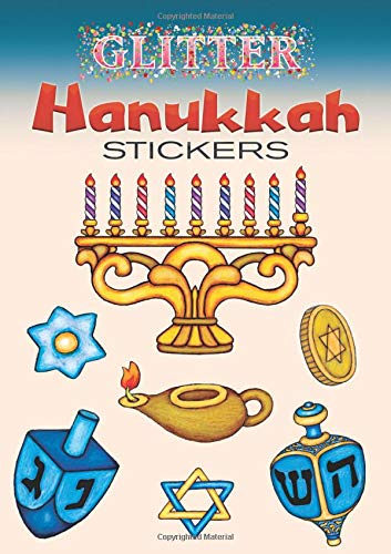 Glitter Hanukkah Stickers (Dover Little Activity Books Stickers) ()