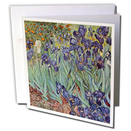 Van Gogh Irises - flower wedding 25th anniversary faith - Greeting Cards, 6 x 6 inches, set of 6 (gc_46958_1) Van Gogh Irises Flower