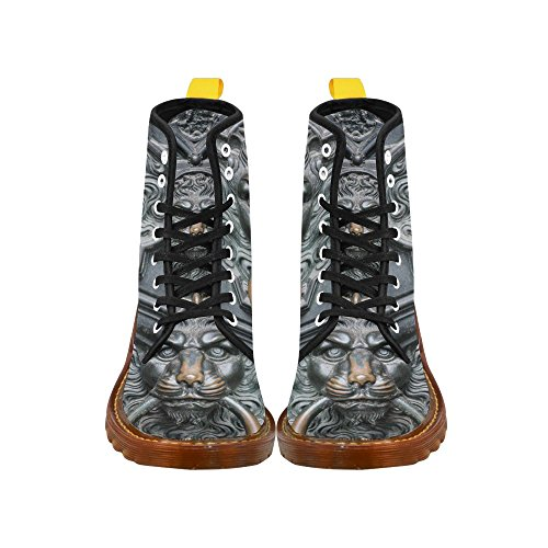 InterestPrint gun Print Lace Up Boots Fashion Shoes For Men Handle in Shape of Lion EQCt7O