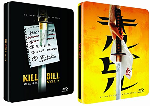 Steelbook Collection Kill Bill Part 1 & 2 [Blu-ray] Quentin Tarantino Set Uma Thurman Double Feature
