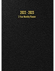 2022 - 2023 2-Year Monthly Planner: 24-Month Calendar (Black) - Large