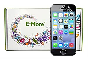 E-More 10 pcs High Quality Transparent Crystal Screen Protectors for iPhone 5 5C 5S