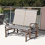 Godyluck Double Seat Glider Swing Lounger Garden Bench Rocking Chair