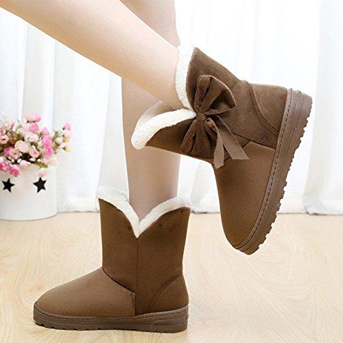 Alto Caff Pelliccia Un Donna Minetom Stivali Classico Boots Arco Neve Autunno Inverno Snow 7CwARtqS