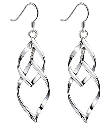 Amazon Com Bassion Womens Classic Double Linear Loops Design Twist