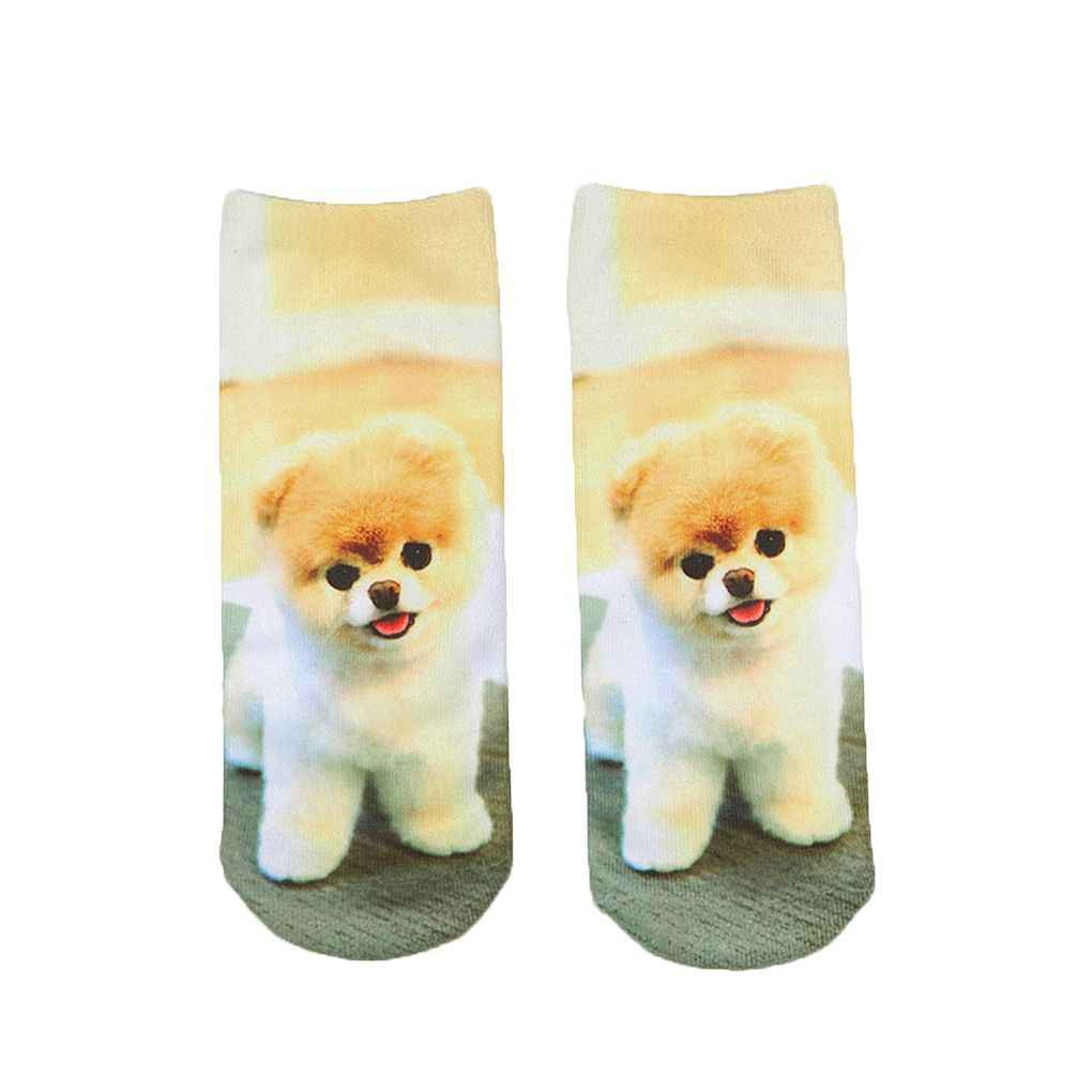 3D Socks Women Men Socks Dogs Printed Harajuku Style Low Cut Ankle Socks Bobury
