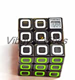 Vibgyor Vibes™ Latest Timer Magic Rubik Cube 3X3 stickerless cube Puzzle with Timer to track your Speed(Train your brain)