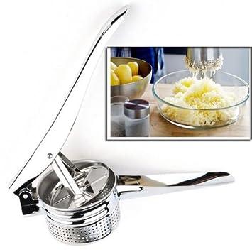 Cocina & Bar 10,5 pulgadas Acero inoxidable prensador de patatas Ricer Puré de Frutas