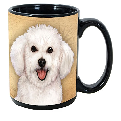 Imprints Plus Dog Breeds (A-D) Bichon Frise 15-oz Coffee Mug Bundle with Non-Negotiable K-Nine Cash (bichon frise 022)