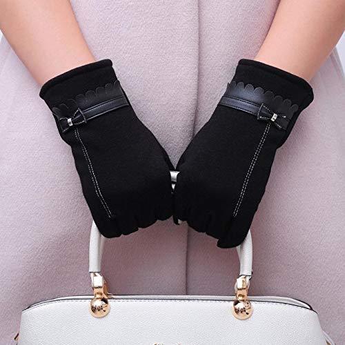 Lannmart Fashion Women Bowknot Winter Warm Gloves Mittens Winter Gloves Gloves Women Driving Gloves guantes Mujer luvas de Inverno