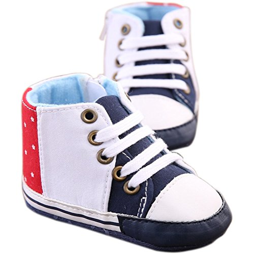 etrack-online Baby Boy carcasa para cuna de alta parte superior suave soled antideslizante zapatillas de deporte as the picture shows Talla:12-18months as the picture shows