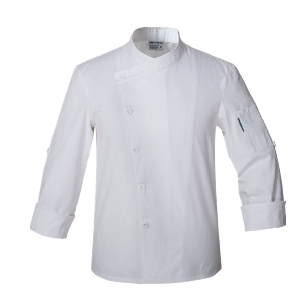 XINFU Hotel Chef's Work Clothes Adjustable Long Sleeve Chef Jacket Chef Uniform Single Breasted
