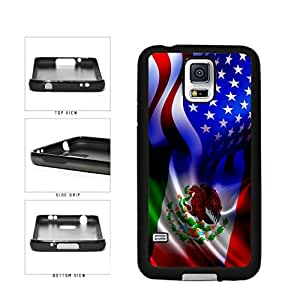 Mexico and USA Mixed Flag TPU RUBBER SILICONE Phone Case Back Cover Samsung Galaxy S5 I9600