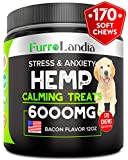 FurroLandia Hemp Calming Treats for Dogs - 170 Soft Chews - Made in...
