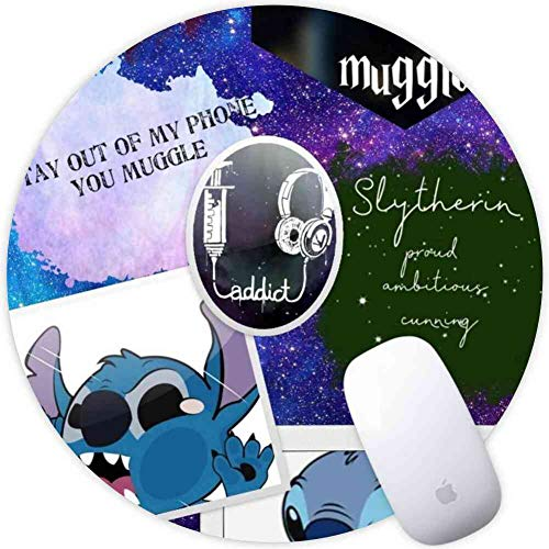 DISNEY COLLECTION Mouse Pad Round Mouse Pad Stitch and Groot Deadpool Friendship Wallpaper Defender