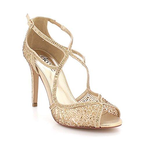Sandales Des De Soir Toe Or Chaussures Diamante Talon Mariée Dames Fête Haut Taille Mariage Peep Bal Femmes xYqOnH7wE