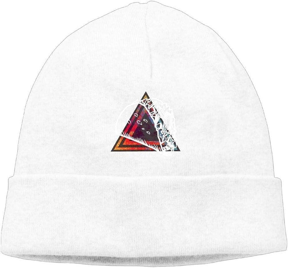 Oopp Jfhg Triangle Taco Beanie Knit Hats Ski Cap Men White