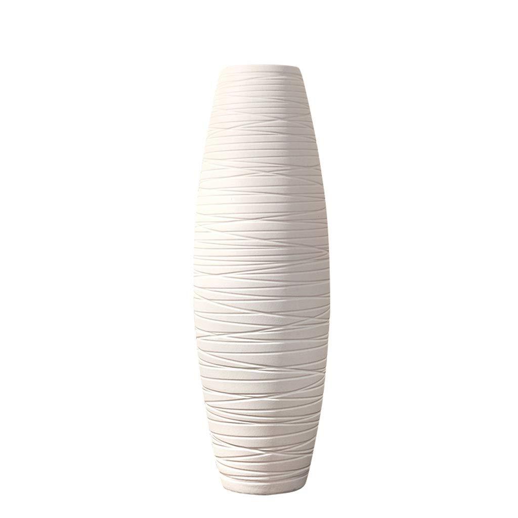 白い陶製の花瓶、モダンなホームデコレーションジュエリー、フラワーアレンジメントの磁器の瓶 B07RJ58H7J