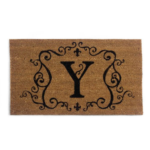 Traditional Coir Mat Insert with Y Monogram