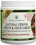 Pinnacle of Wellness Natural Greens Fruits & Vegetables Superfood Powder - Citrus Orange Flavor - 30 Servings 8.5oz (240g)