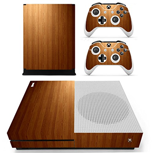 Chickwin Xbox One S Skin Vinyl Decal Full Body Cover Sticker For Microsoft Xbox One S Console and 2 Controller Skins (Wood (Luna Brown Wood)