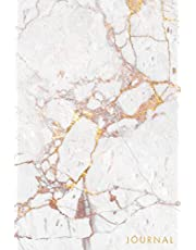Journal: Beautiful White Marble - Rose Gold Veins- Marble & Gold Journal | 120 College-ruled Pages | 6 x 9 Size