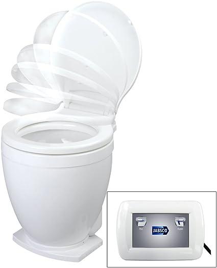 Jabsco Lite Flush Compact 12 V Marine Electrique Wc Avec Panneau
