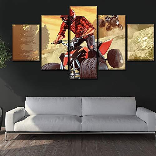 Arte Moderno Pared Decoración para el hogar 5 Piezas Juego V ...