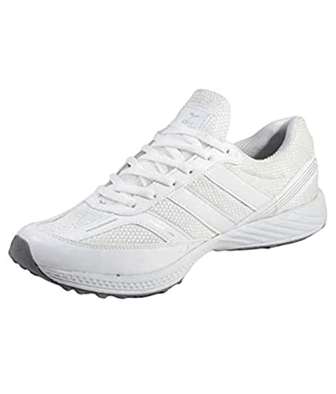 White Runner Sports Shoes at Amazon