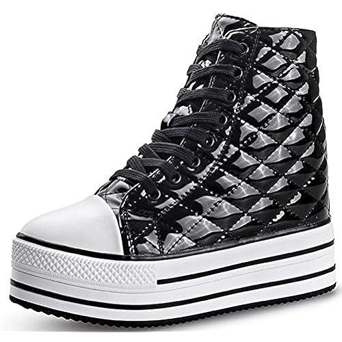 8f0a9fac88e5d free shipping Women's High Top Wedge Fashion Sneakers Hidden Heel ...