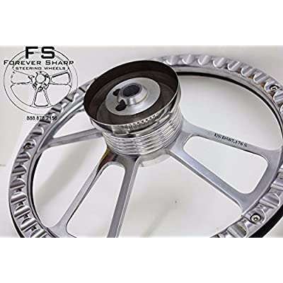 Billet Muscle Compatible with Chevy GMC 69-94 Steering Wheel Set W/Chevy Engraved Horn: Automotive