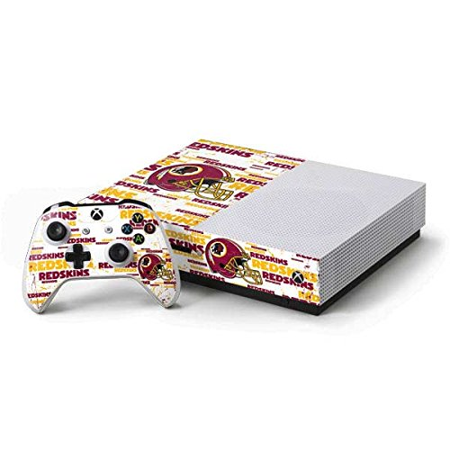 Washington Redskins Controller Xbox - Skinit NFL Washington Redskins Xbox One S Console and Controller Bundle Skin - Washington Redskins - Blast Design - Ultra Thin, Lightweight Vinyl Decal Protection