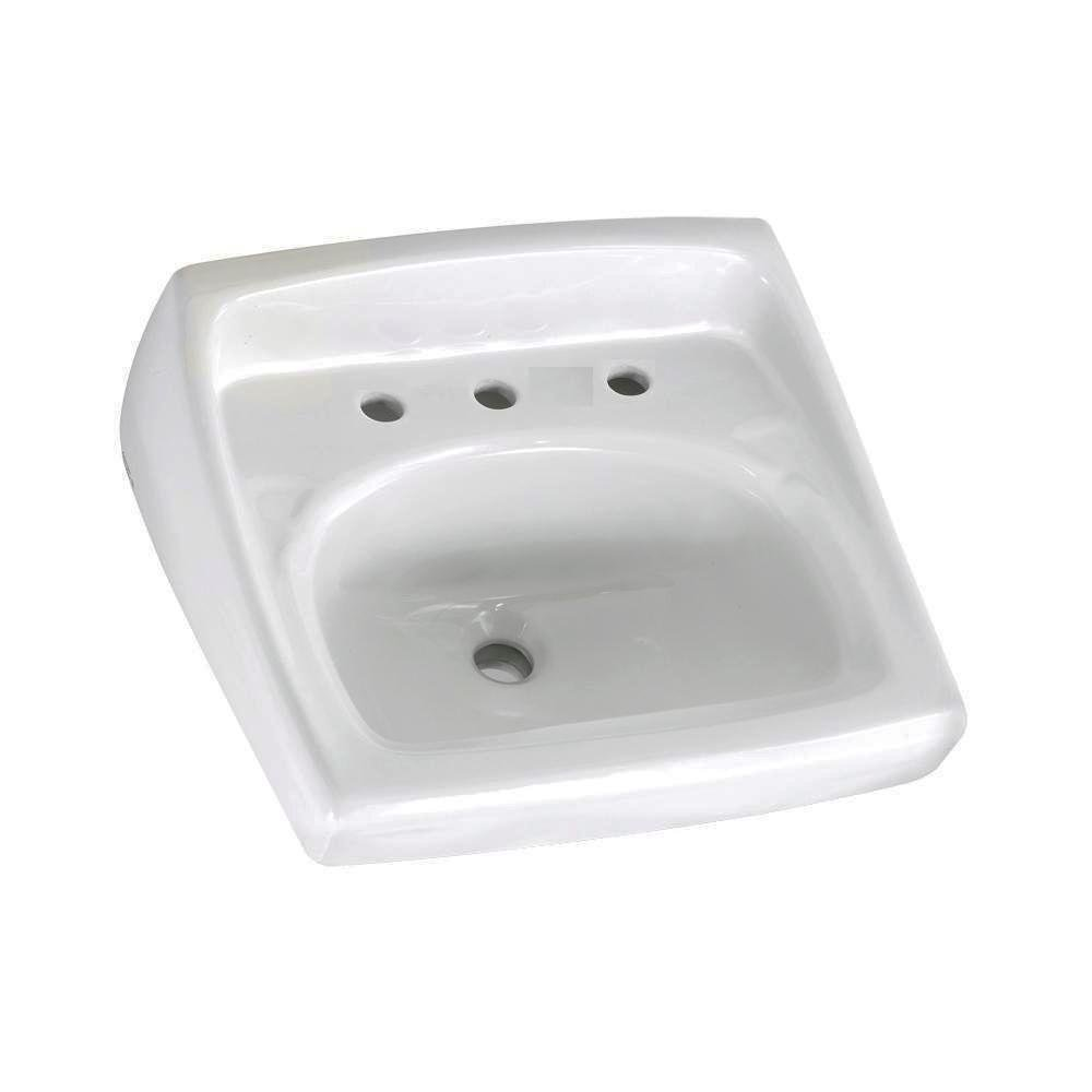 Amazon.com: American Standard 0356.028.020 Lucerne Wall Mount Lavatory Sink  With 8 Inch Faucet Spacing For Exposed Bracket Support, White: Home  Improvement
