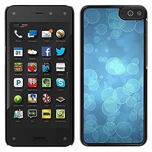 Caucho caso de Shell duro de la cubierta de accesorios de protección BY RAYDREAMMM - Amazon Fire Phone - Blue Water buceo Océano Luz