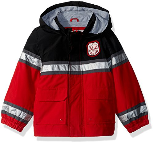 Carter's Toddler Boys' Little Man Rainslicker Rain Jacket, Fireman Red, 4T