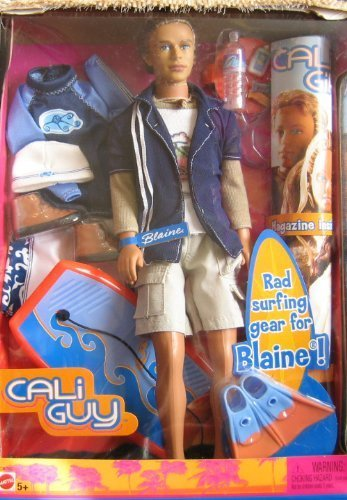 Barbie Cali Girl - Barbie Cali Guy Blaine Doll with Surfing Accesories